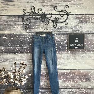 Gap Medium Wash Real Straight Jeans